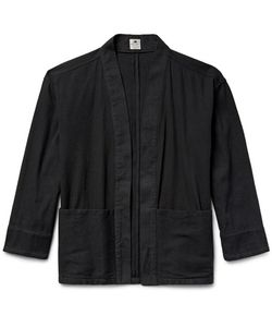 Sasquatchfabrix. | Sashiko-Stitched Cotton Hanten Jacket