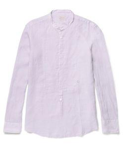 Massimo Alba | Kos Grandad-Collar Linen Shirt
