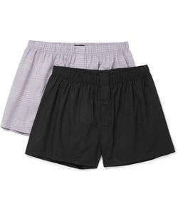 Hanro | Two-Pack Cotton Boxer Shorts