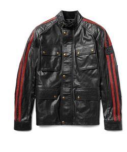 Belstaff | Daytona Slim-Fit Striped Leather Jacket