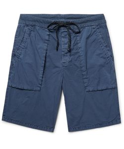 James Perse | Slim-Fit Stretch-Cotton Poplin Cargo Shorts