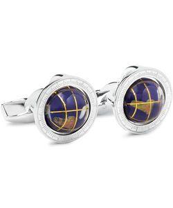 Tateossian | Globe Cage Sterling Multi-Stone Cufflinks