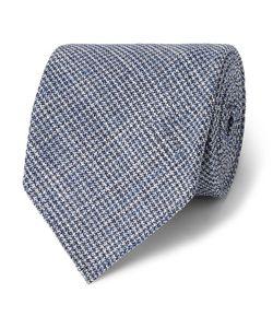 Drake's | 8cm Puppytooth Wool And Silk-Blend Tie