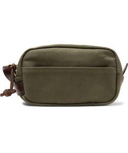 Filson | Leather-Trimmed Cotton-Canvas Wash Bag