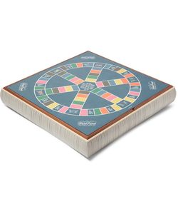 Linley | Leather And Wood Stacking Games Compendium Scrabble And