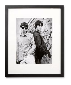 Sonic Editions | Framed Oasis Brothers Print 17 X 21