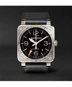 Bell & Ross | Br 03-93 Gmt 42mm Steel And Leather