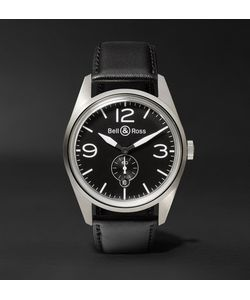 Bell & Ross | Br 123 41mm Steel And Leather Watch
