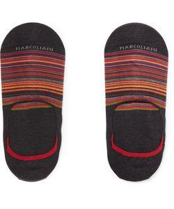 Marcoliani | Invisible Touch Striped Pima Cotton-Blend No-Show Socks