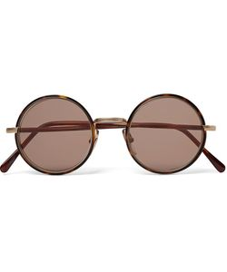 CUTLER & GROSS   Round-Frame Acetate And Tone Sunglasses