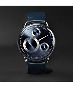 Ressence | Type 1 Mrp Mechanical 42mm Titanium And Leather Watch