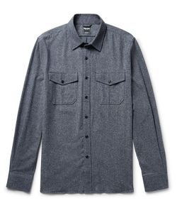 TODD SNYDER | Mélange Silk Cotton Wool And Cashmere-Blend Shirt