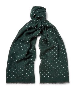 J.Crew | Polka-Dot Wool And Silk-Blend Scarf