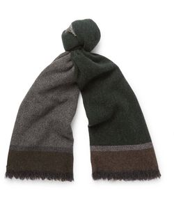 Begg & Co | Colour-Block Wool And Cashmere-Blend Scarf