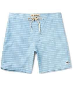 MOLLUSK | Long-Length Striped Cotton-Blend Swim Shorts