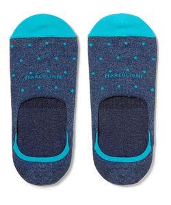 Marcoliani | Invisible Touch Polka-Dot Pima Cotton-Blend No-Show Socks