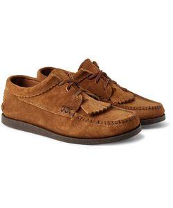 Yuketen | Textu-Leather Kiltie Derby Shoes