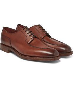 EDWARD GREEN | Dover Burnished-Leather Derby Shoes