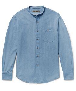 Freemans Sporting Club | Slim-Fit Grandad-Collar Denim Shirt