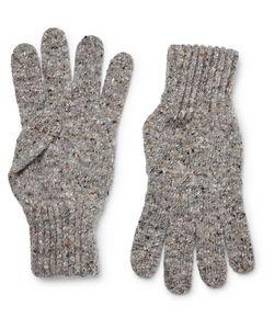 Drake's | Ribbed Donegal Merino Wool Gloves