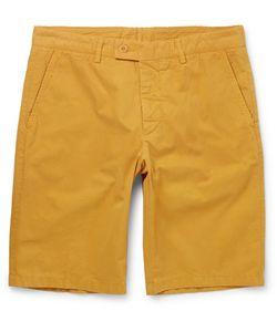 Aspesi   Washed Cotton-Twill Shorts