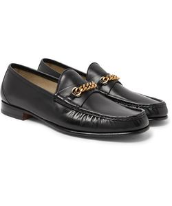 Tom Ford | Chain-Trimmed Leather Loafers