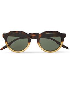 BARTON PERREIRA   Ascot Two-Tone Round-Frame Acetate Sunglasses