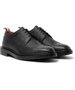 Thom Browne | Pebble-Grain Leather Longwing Brogues