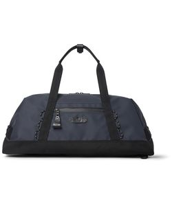 Master-Piece | Slick Waterproof Rubberised-Leather And Cordura Convertible Bag Midnight