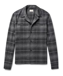 SIMON MILLER | Camp-Collar Checked Brushed-Cotton Flannel Shirt