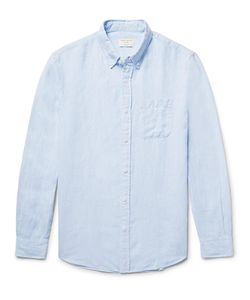 Club Monaco | Slim-Fit Button-Down Collar Linen Shirt