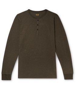 JEAN SHOP | Henry Slub Cotton-Jersey Henley T-Shirt