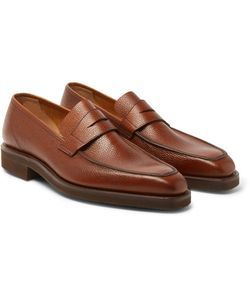 GEORGE CLEVERLEY | George Pebble-Grain Leather Penny Loafers