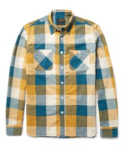 Beams Plus | Slim-Fit Checked Linen And Cotton-Blend Shirt