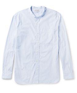MARGARET HOWELL | Slim-Fit Grandad-Collar Striped Cotton Shirt