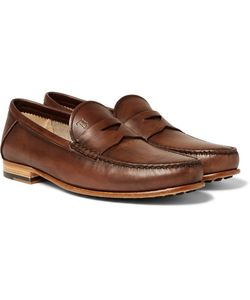 Tod'S | Burnished-Leather Penny Loafers