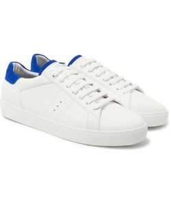 J.M. Weston | Suede-Trimmed Leather Sneakers