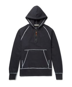 Albam | Slim-Fit Stretch-Cotton Jersey Half-Zip Hoodie