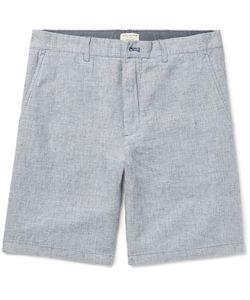 Club Monaco | Maddox Houndstooth Slub Linen Shorts