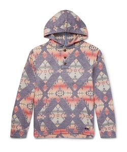 Faherty | Pacific Brushed-Cotton Jacquard Hoodie