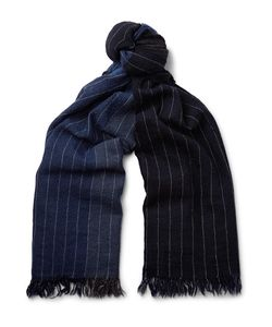 Begg & Co | Kishorn Pinstriped Colour-Block Cashmere Scarf