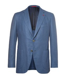 Isaia | Slim-Fit Brushed Wool Cotton And Cashmere-Blend Blazer