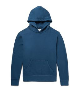 SIMON MILLER | Raw-Edged Loopback Cotton-Jersey Hoodie