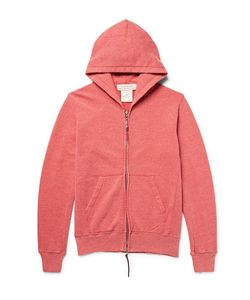 Remi Relief | Loopback Nep Cotton And Silk-Blend Jersey Zip-Up Hoodie