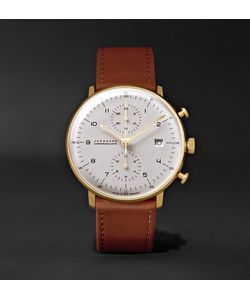 Junghans | Max Bill Chronoscope 40mm Stainless Steel And Leather Watch
