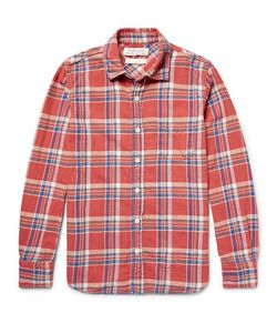 Remi Relief | Embellished Checked Cotton-Flannel Shirt