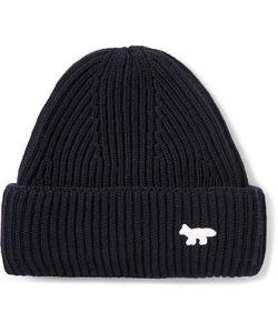 Maison Kitsune | Ribbed-Knit Wool Beanie Hat