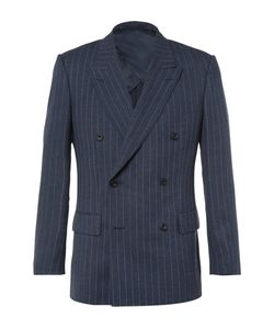 Kingsman | Harry Double-Breasted Pinstriped Wool Suit Jacket