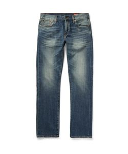 JEAN SHOP | Mick Slim-Fit Washed Selvedge Denim Jeans Mid