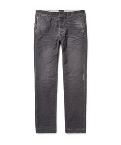Fabric-Brand & Co | Meron Slim-Fit Distressed Cotton-Blend Corduroy Trousers